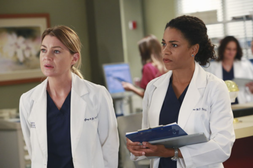 Ellen Pompeo, Kelly McCreary Grey's Anatomy Copyright ABC - Ron Tom
